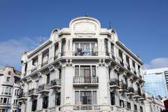 Art Deco byggnad i Casablanca Arkivbild