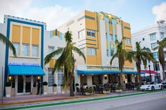 Art Deco byggnad i Miami Beach, Florida Royaltyfri Fotografi
