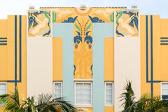 Art Deco byggnad i Miami Beach, Florida Royaltyfri Bild