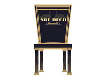 Art deco chair, vintage chair, armchair front view closeup. Armchair isolated on a white background. Vector illustration Royalty Free Stock Photography
