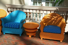 Art Deco Chairs. Colorful Lounge Chairs royalty free stock images