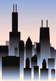 Art Deco Chicago Obraz Stock