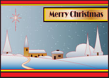 Art Deco Christmas Card Royalty Free Stock Images