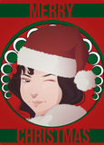 Art deco christmas card Royalty Free Stock Image