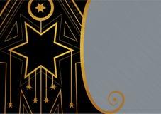 Art Deco Christmas Star Border illustrazione di stock