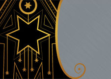 Art Deco Christmas Star Border Royalty Free Stock Images