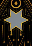 Art Deco Christmas Star Border Royalty Free Stock Photo
