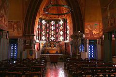 Art Deco Church. Interior of little art deco church in Picardie,France Stock Image