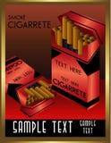 Art deco cigarrete vector Royalty Free Stock Photography