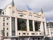 Art Deco Cinema o teatro en Lisboa Portugal imagen de archivo
