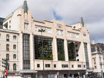 Art Deco Cinema or Theatre in Lisbon Portugal. Lisbon is one of the oldest cities in the world, and the oldest in Western Europe. Ruled by a series of Germanic stock image