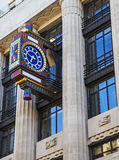 Art Deco Clock on Fleet Street in London Royalty Free Stock Photography