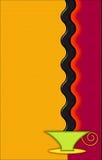 Art deco coffee graphic Stock Image