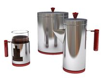 Art Deco Coffee Set Royalty Free Stock Photography