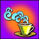 Art deco coffee/tea graphic. A graphic illustration of a coffee cup in the art deco style Stock Photos