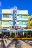 Art Deco Colony Hotel at Ocean Drive in Miami Beach Stock Images