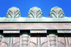 Art Deco Copper - Griffith Observatory, Los Angeles, California Royalty Free Stock Photography