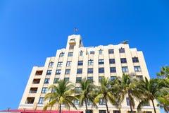 Art deco de bouw van het Strand van Miami, Florida Stock Afbeeldingen