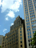 Art Deco-de stijlbouw in Boston Massachusetts Royalty-vrije Stock Afbeeldingen