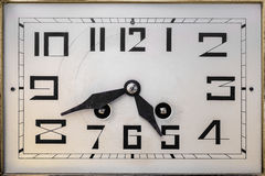 Art deco clockface from the early twentieth century Royalty Free Stock Photo