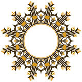 Art deco design element border Royalty Free Stock Image