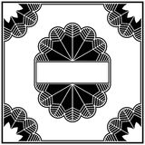 Art deco design elements collection border stock illustration
