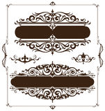 Art deco design elements of vintage ornaments and borders corners of the frame.  Royalty Free Stock Photos