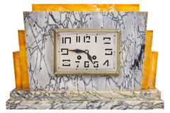 Art deco design marble clock from the early twentieth century Stock Images