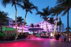 Art Deco District i Miami Beach, Florida fotografering för bildbyråer