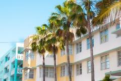 Art Deco District South Beach Miami Fotos de archivo