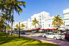 Art Deco district in South Miami Stock Image