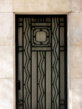 Art deco door Stock Images