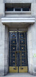 Art deco door, Bucharest, Romania Royalty Free Stock Photo