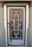 Art Deco door, Bucharest, Romania Stock Photography