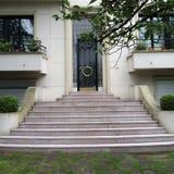 Art Deco Door. Classic black iron door Royalty Free Stock Photography