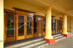 Art Deco entrance on a building in Napier, NZ Royalty Free Stock Photography