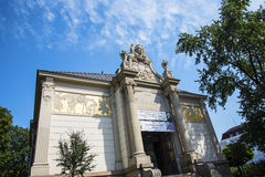 Art Deco Exhibition Hall in Planty Park Krakow Poland Stock Photography
