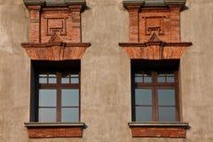 Art Deco fönster royaltyfria bilder