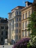 Art deco facades in Stockholm city (Sweden) Royalty Free Stock Photos