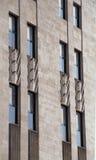 Art Deco fasady szczegóły obrazy royalty free