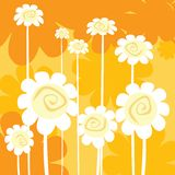 Art deco floral card Royalty Free Stock Photos
