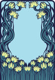 Art Deco floral frame Royalty Free Stock Photography