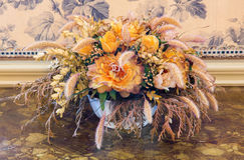 Art deco flower decoration Stock Photography