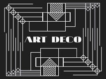Art deco frame. Art deco geometric vintage frame. Retro style background. Style 1920s, 1930s. Vector Royalty Free Stock Photo