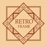 Art deco frame stock illustration