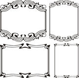 Art deco frame - black & white Stock Photography
