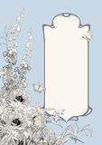 Art Deco Frame Botanical Composition Royaltyfria Foton