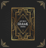 Art deco frame design for your design Stock Photography