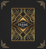 Art deco frame design for your design Stock Photo