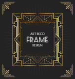 Art deco frame design for your design Royalty Free Stock Photos